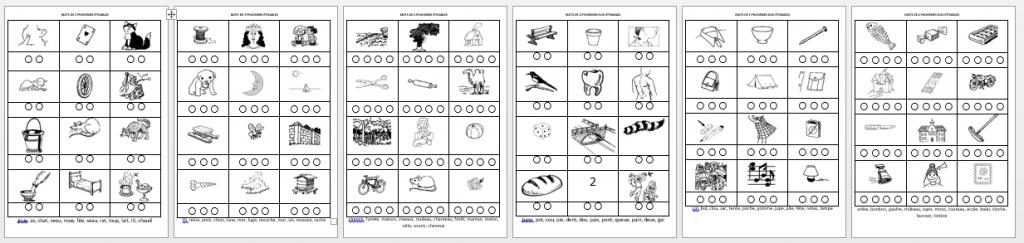 étiquettes images segmentation phonémique