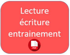 lecture écriture fluence CP