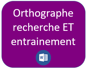 orthographe CP séance recherche entrainement