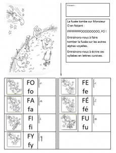 F lecture syllabes et repérage auditif