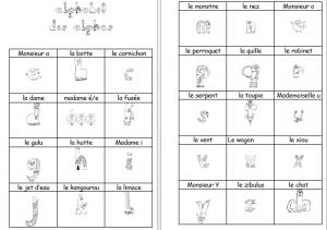 alphabet alpha à colorier