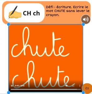 book creator écriture cursive ch