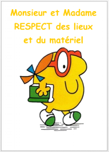 règles de classe respect lieux et matériel Monsieur Madame