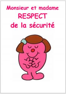 respect règles de classe sécurité Monsieur Madame