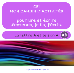 CE1 lecture écriture orthographe son A