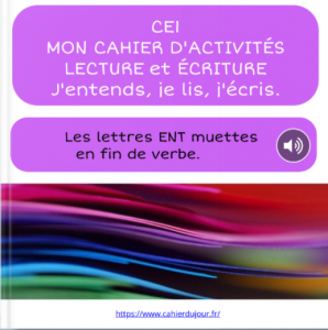 bookcreator CE1 lettres ENT muettes fin de verbe