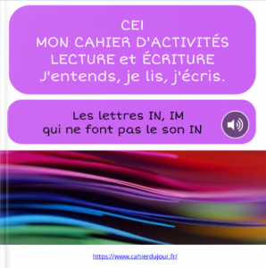 bookcreator CE1 lettres IN IM pas le son IN