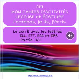 bookcreator CE1 son È avec ERR ESS ETT ELL