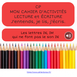 bookcreator CP lettres IN IM pas le son IN